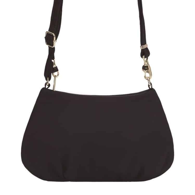 8af4b476dd61f Pacsafe Citysafe CX Crossbody czarna - Elegancka mała torebka damska  antykradzieżowa