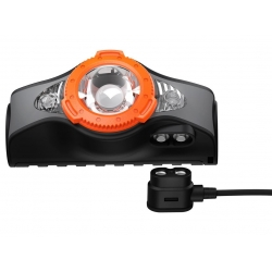 Latarka Ledlenser MH11 black/orange
